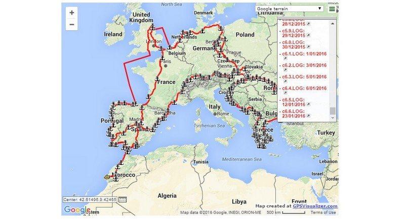Camper Van Conversion Map