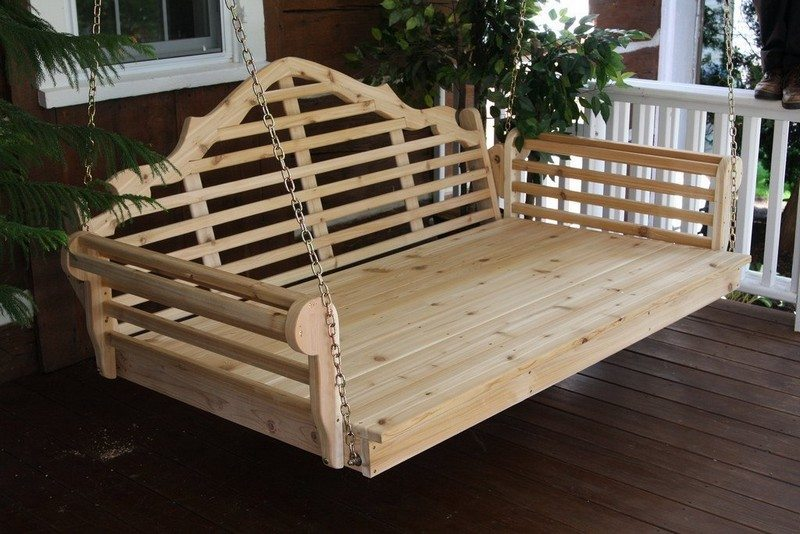 Outdoor Cedar Swing Bed Pergola