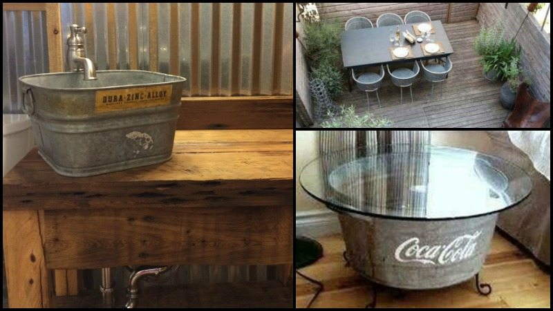 Repurposed Galvanized Buckets