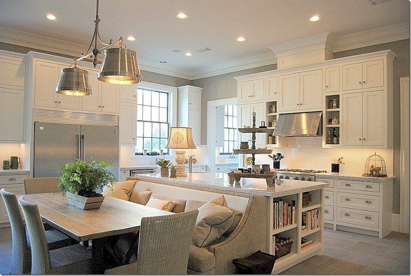 Kitchen island with built in seating inspiration kitchen for Built in kitchen seating ideas