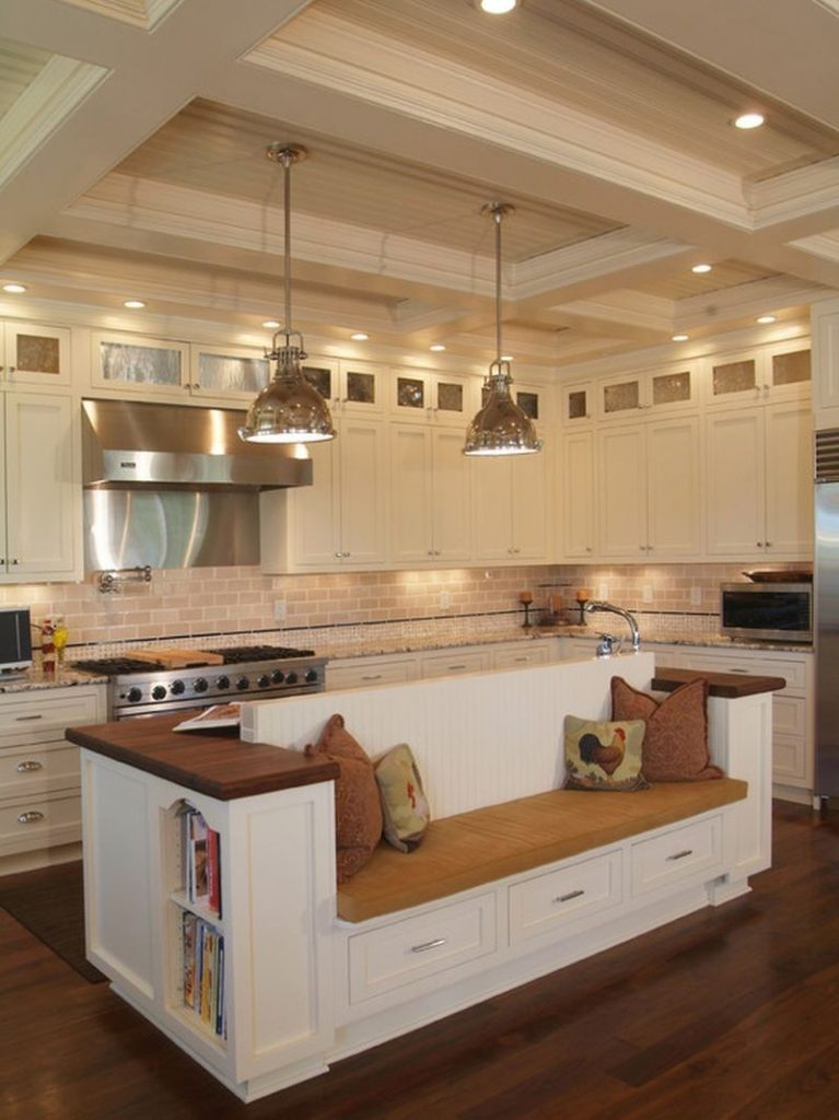 Kitchen island with built-in seating inspiration | The ...