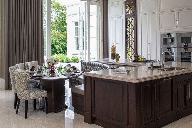 Kitchen island with builtin seating inspiration  The OwnerBuilder Network