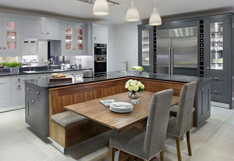 Awesome Kitchen Island With Built In Seating