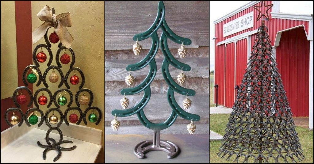 Horseshoe Christmas Tree.Decorated Horseshoes For Christmas Why Santa Claus