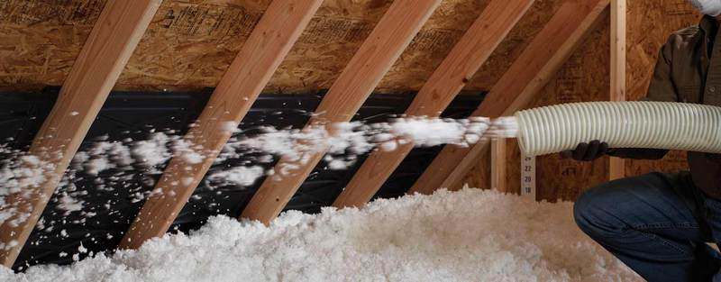 Blow-in insulation is great for those hard to reach areas.