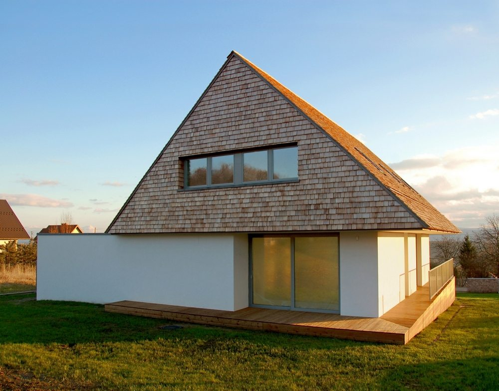 The House with a View is a house with a very simple yet functional facade.