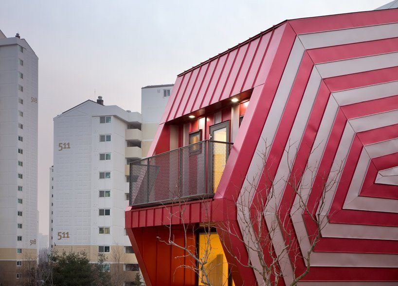 The Lollipop House's swirling pink and white candy stripes look almost hypnotic.