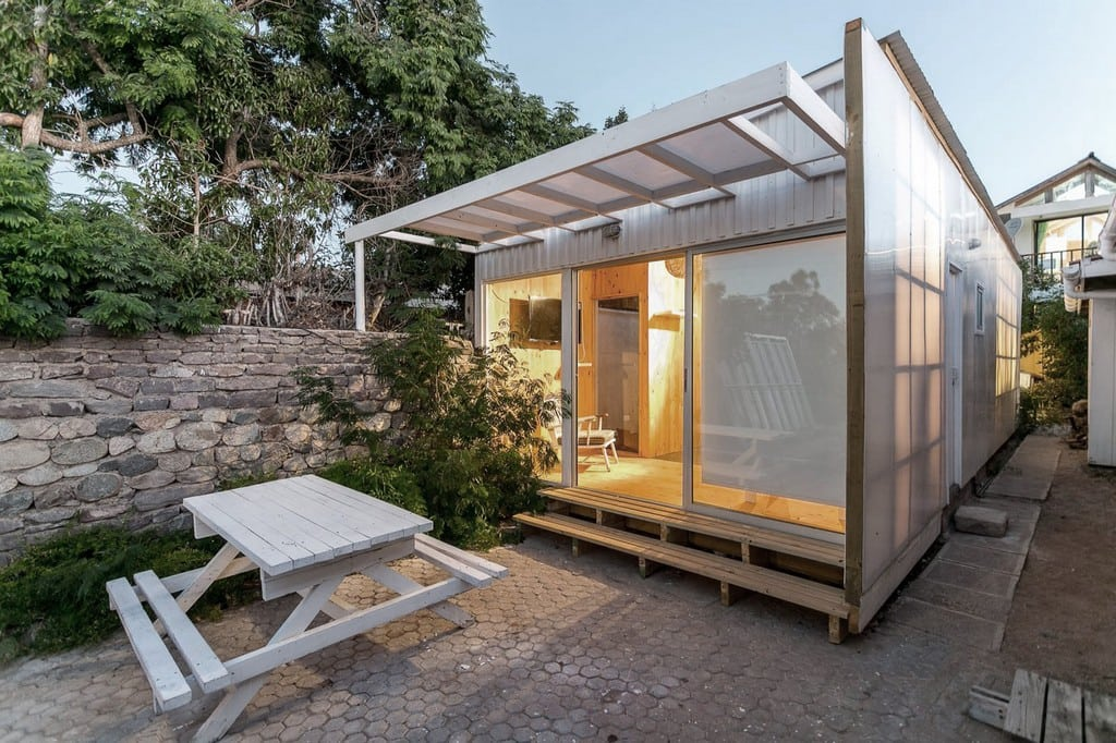 White and translucent, Polycarbonate Cabin has an almost ethereal quality to it.