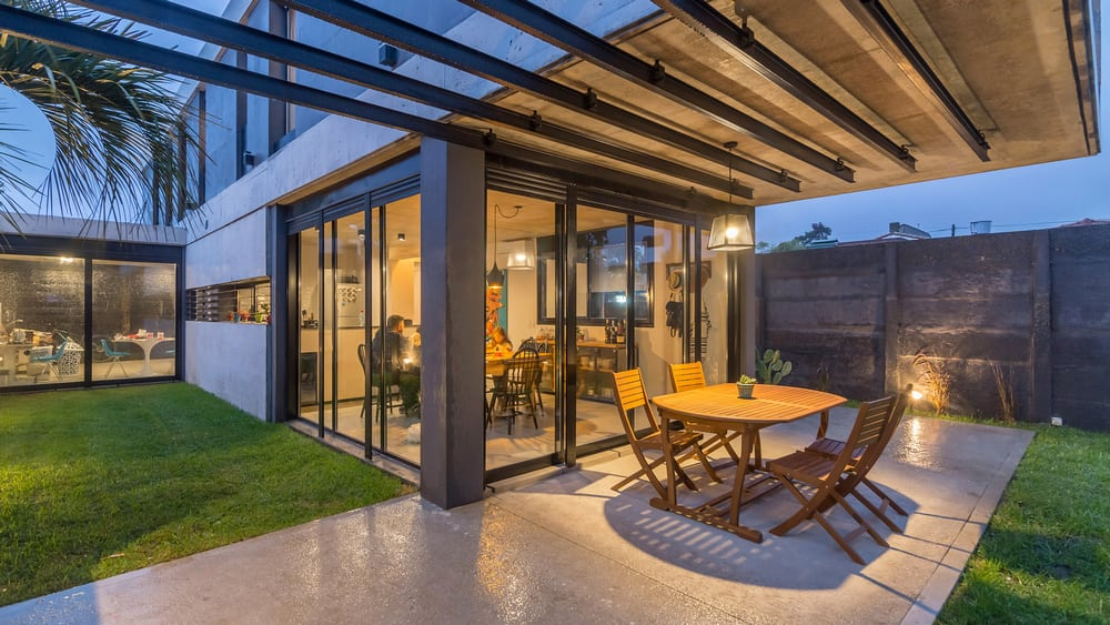 Private space with abundant outdoor spaces best describes Arturo House.