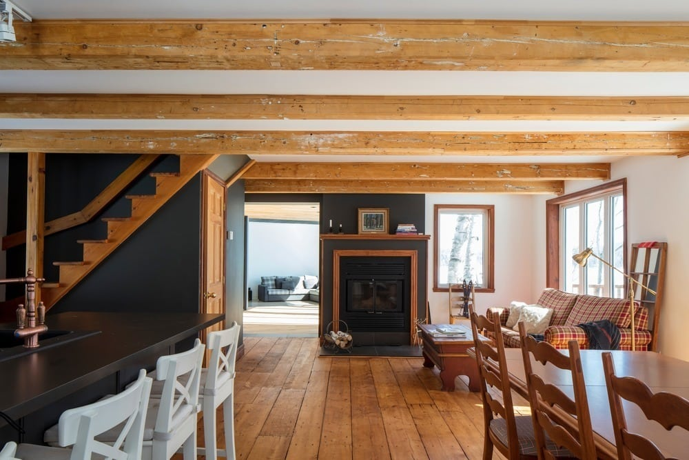 Inside, Chalet La Petite Soeur is charming, clutter-free, warm, and comfortable.