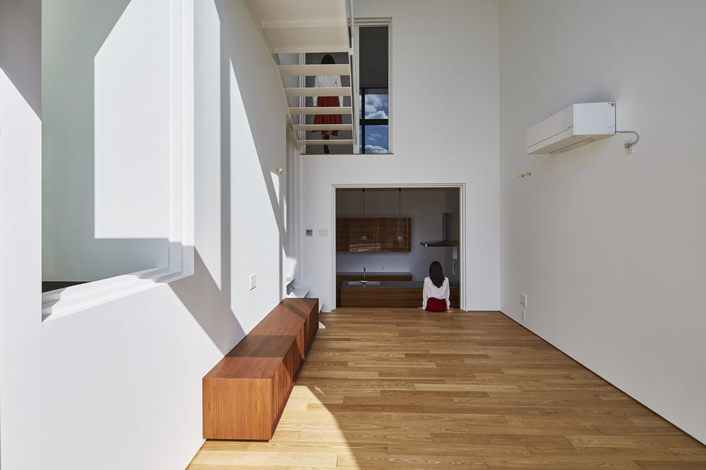 The interiors of the home is a reflection of traditional Japanese architecture.