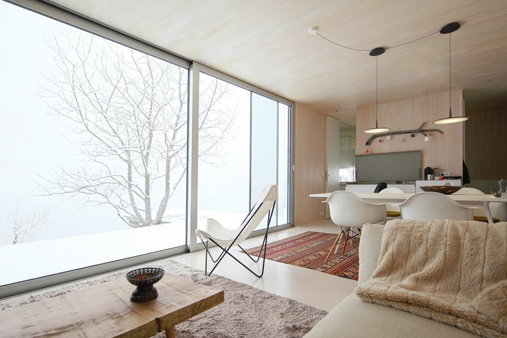 Generous-sized windows allow natural light in while providing great views of the outdoors.