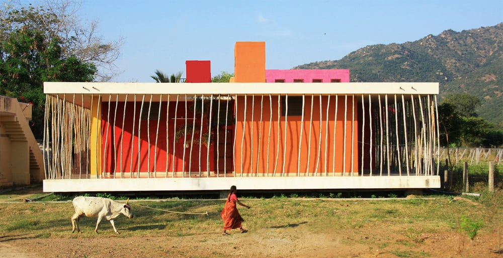 Casa Rana is a colorful home that's almost a playground for disadvantages kids.
