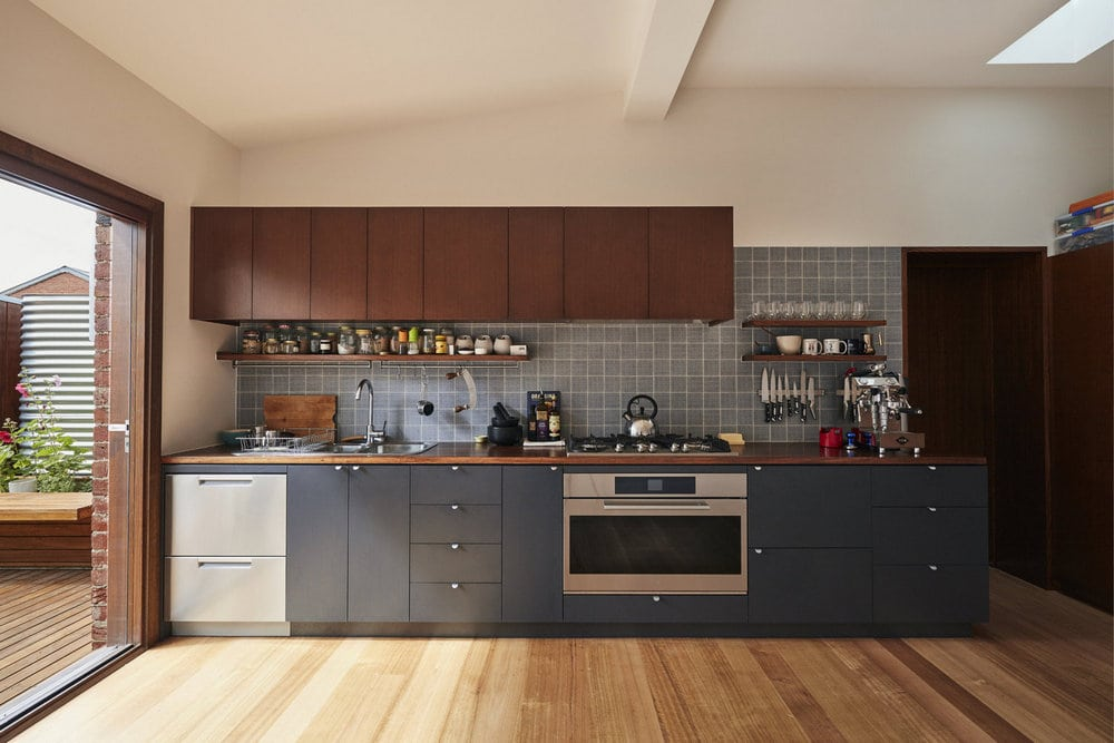 Mission accomplished: a space for entertaining, cooking, and dining for the avid cook.