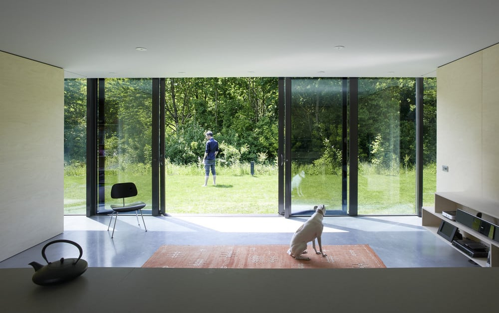 The reflective glass acts as a camouflage, providing much-needed privacy to its occupants.