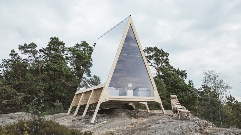 Nolla Cabin promotes zero-emission, basic, and simple living.