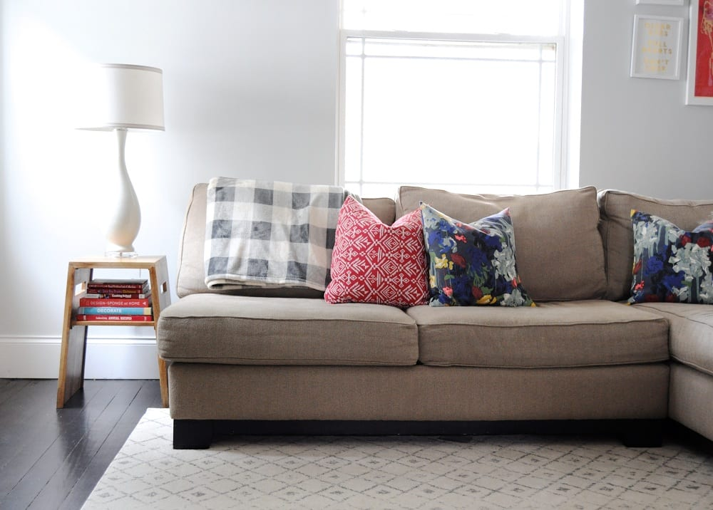 Sectional sofas are so big that if it's not sized right, that one piece of furniture can feel like it's taking up the whole room.