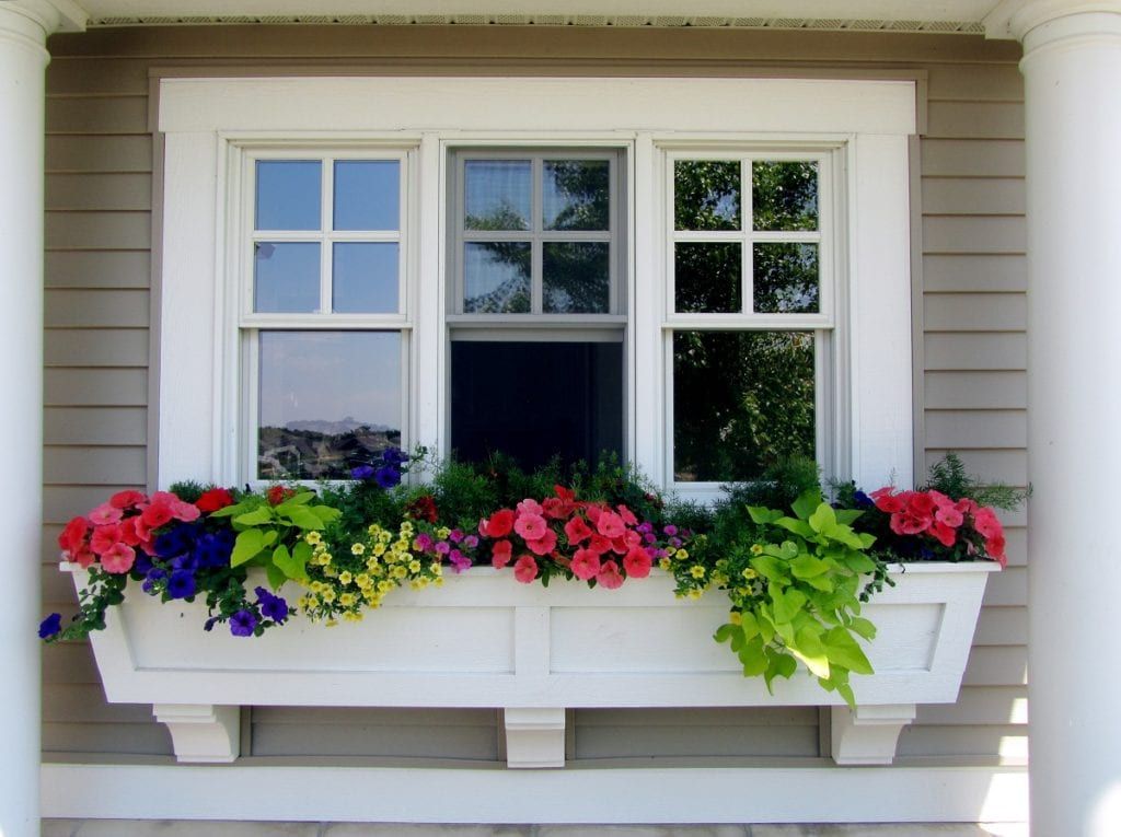 Overflowing with color and sweet scent, window boxes are a legacy from a time when people built their homes on the edge of the street.