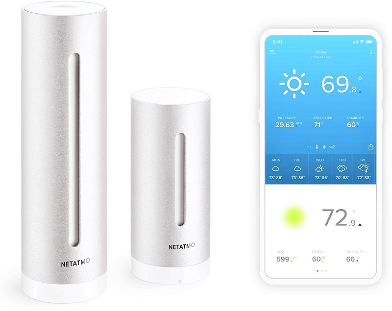 You won't find more streamlined weather station than the French-made Netatmo.