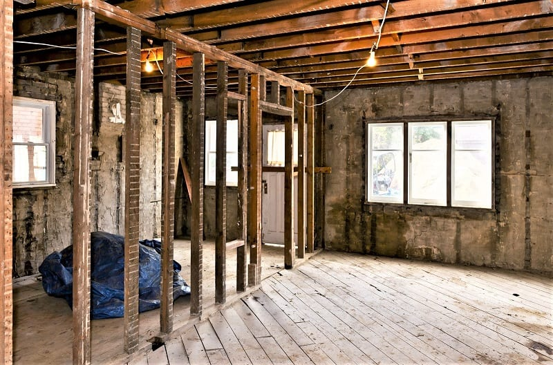 You need to resolve any structural concerns before doing anything cosmetic.