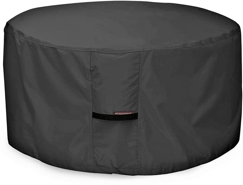 f you don't have a fire pit cover, then we recommend that you make that small investment, as well. For less than $20, Porch Shield's Heavy Duty Firepit Cover will keep debris from accumulating on the burner.