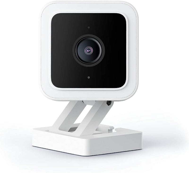 The Wyze Cam V3 1080p Security Camera has an IP65 weatherproof rating. This means you can use it both for indoor and outdoor home security.