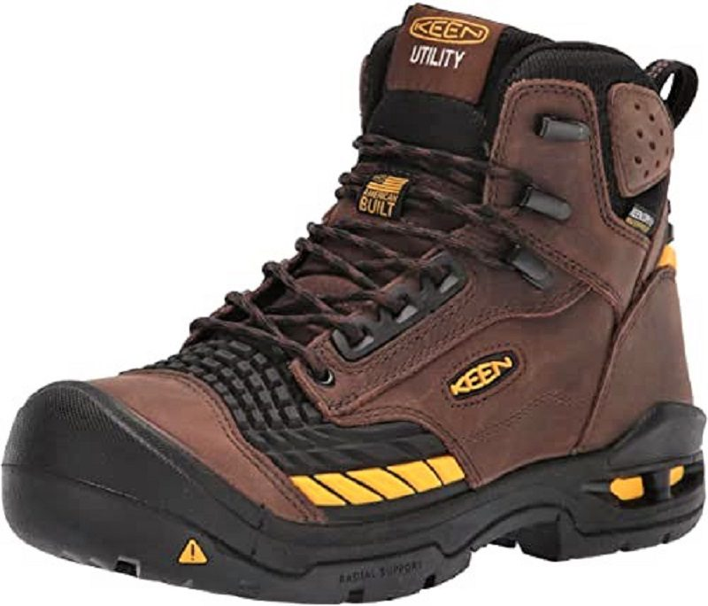 The Troy has a partial rubber cap around the front to protect against cuts or scuffs. Keen uses a rubber material across the forefoot, as well. This forms a hinge where leather typically cracks from repeated bending.